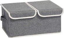 Storage Basket with Foldable Lid Fabric Storage