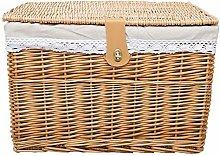 Storage Basket Woven Storage Basket with Lid