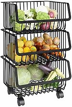 Storage Baskets,Kitchen Storage Trolley cart with
