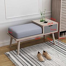 Storage Benches Wood Storage Bench 2-tier with