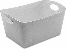 Storage bin BOXXX L, organic grey