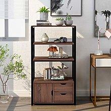 Storage Bookcase Cabinet 4-Tier tall Floor Cabinet