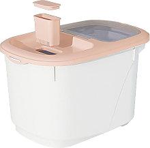 Storage Box Kitchen Food Grain Rice Container pink