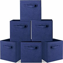 Storage Box Pack of 6, Non-woven Fabric Storage