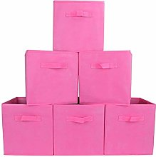 Storage Box Pack of 6, Non-woven Fabric Storage