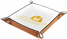 Storage Box PU Leather Square Tray for Dice Table