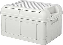 Storage Box with Lid, 47L Collapsible Heavy-Duty