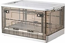 Storage Box with Lid, 49L Collapsible Heavy-Duty