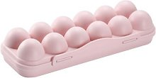 Storage box with plastic eggs with lid for 12