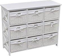 Storage Cabinet Akron White - White - Vidaxl