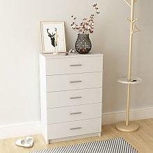 Storage Cabinet Chipboard 71x35x106 cm White -