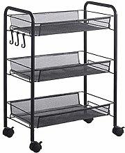 Storage cart 3 Tier Storage Organizer Rack Movable