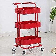 Storage Cart Storage Trolley 3-Tier Metal Mesh