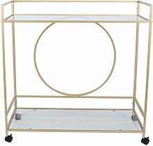 Storage Cart Trolley Cart Gold Utility Cart Wear