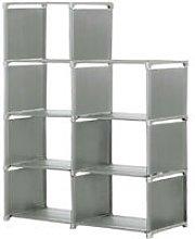 Storage Cube 5-Tier Closet Organizer Shelf 8 Grid