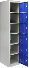 Storage Filing Locker Cabinet Metal 6 Door