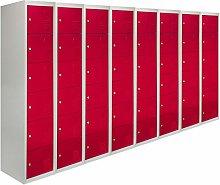 Storage Filing Locker Cabinet Metal 6 Door Fully