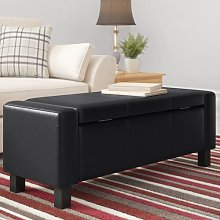 Storage Ottoman ClassicLiving Upholstery: Black