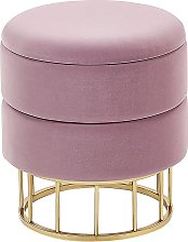 Storage Pouffe Pink ELGIN