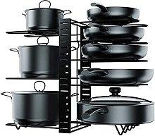 Storage rack for kitchenware and pans