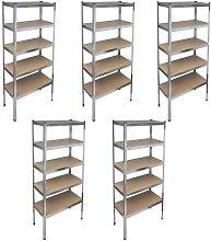 Storage Rack Garage Storage Shelf 5pcs VD14739