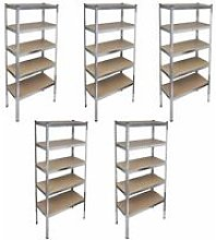 Storage Rack Garage Storage Shelf 5pcs VDTD14739