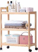 Storage shelf Multipurpose Shelf trolley wooden