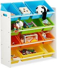 Storage Shelf Toy Organiser with Bins,