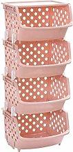 Storage Stacking Basket, Household Kitchen Plastic
