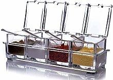 Storage Transparent Spices Seasoning Jar -Storage