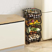 Storage Trolley Cart, Kitchen Trolleys with Wheels
