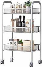 Storage Trolleys Kitchen Bathroom 3-Tier Metal