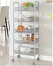 Storage Trolleys Kitchen Bathroom 5-Tier Metal
