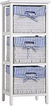 Storage Unit Basket Chest of Drawers Wicker