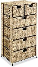 Storage Unit with 6 Baskets 47x37x100 cm Water