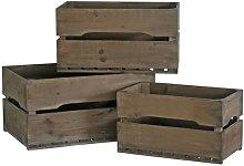 Storage Wood Basket Set August Grove