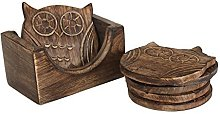 Store Indya - Set of 4 Wooden Coasters –