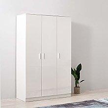 Storeinuk 3 Door Triple Large Wardrobes, with 6