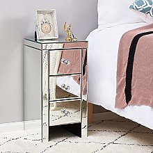 Storeinuk Mirrored Furniture Glass 3 Drawer