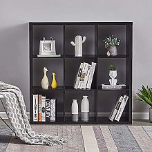 Storeinuk Wooden Bookcase 3 Tier Cube Bookshelf