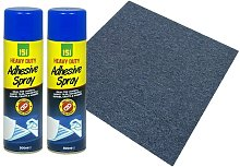 Storm Blue Carpet Tiles 5m2 with 2 x Heavy Duty Carpet Adhesive Spray