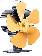 Stove Fan, 5 Blade Fireplace Fan, Quiet Operation,