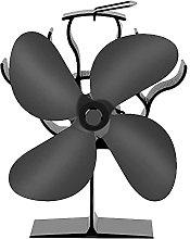 Stove Fan 6 Blades Fireplace Fan - Heated Fans