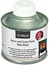 Stove Paint 100ml Matt Black   De Vielle