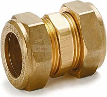Straight Coupling Brass Compression Fittings 15mm