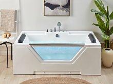 Straight Whirlpool Bath White Sanitary Acrylic