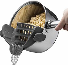 Strainer, Clip On Silicone Colander, Fits All Pots
