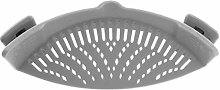 Strainer Clip on Silicone Colander Fits All Pots
