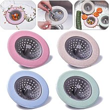 Strainer Drain Stopper Drain Plug for Strainer Strainer Basket Strainer for Bathroom Drain Strainer Strainer for Drain Strainer Plug For Kitchen Sink (4 Pieces) - Langray