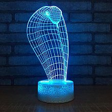 Strange Cobra Night Light Headlamp Led Desk 3D